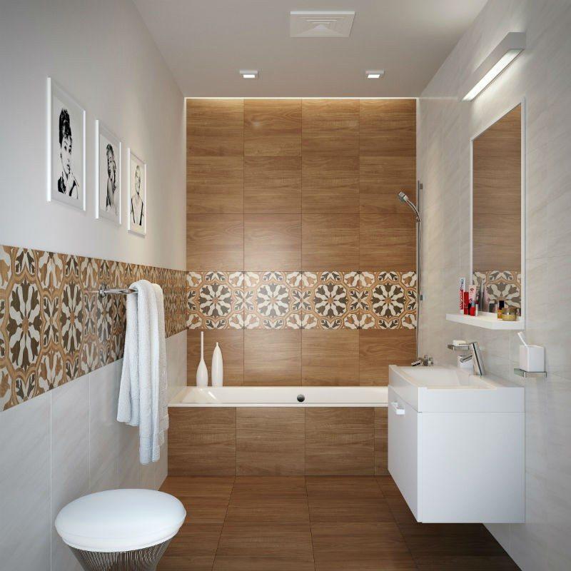 Дизайн ванной под дерево: 75 фото идей - «Интерьер ванной»