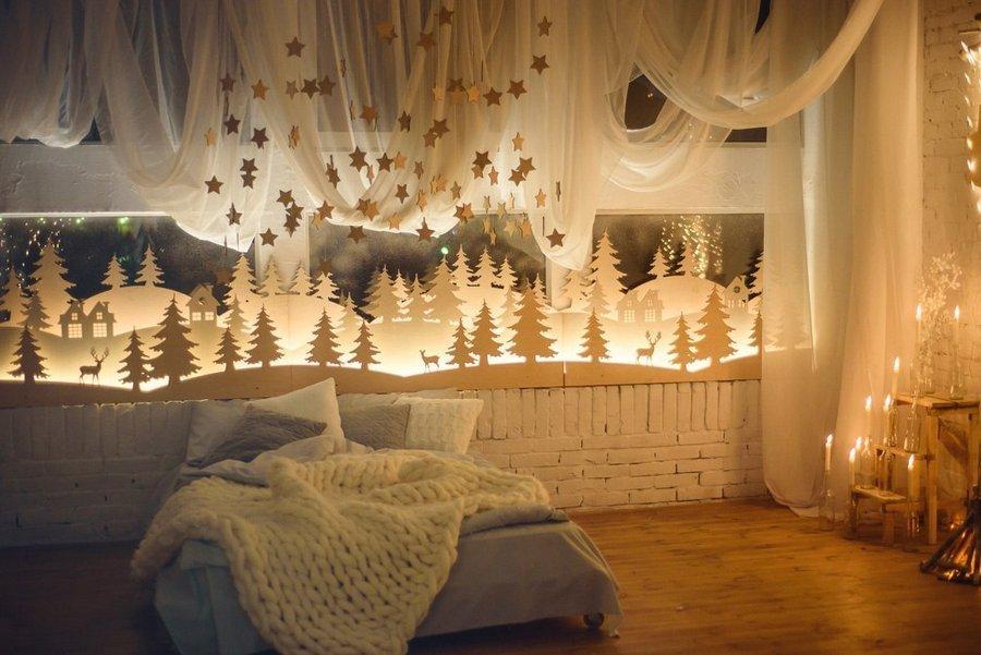 оформление квартиры к новому году фото виртуальными