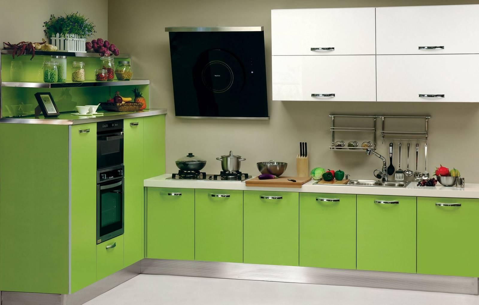 картинки кухонная мебель зеленого цвета интегрируется меню проводника