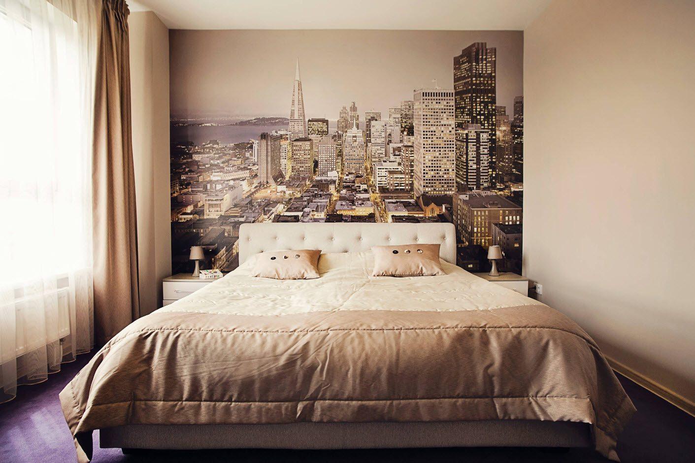 Фотообои для небольшой спальни